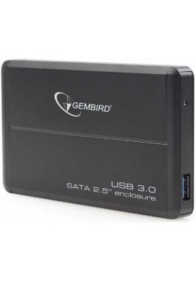 "Корпус для HDD/SSD 2.5"" SATA3 USB3.0 Gembird EE2-U3S-2, Black, алюминиевый"