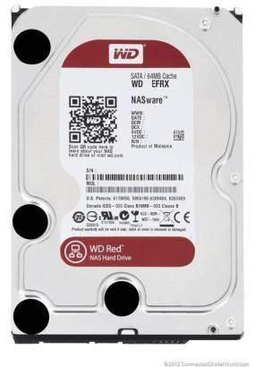 "HDD 3.5"" 1.0TB IntelliPower SATA3 64MB WD Red NASware (WD10EFRX) 24/7, для NAS, TLER (надёжный RAID)"