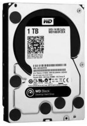 "HDD 3.5"" 1.0TB 7200rpm SATA3 64MB WD Black (WD1003FZEX) макс. быстродействие для сложных задач, VCT (Vibration Control Technology)"