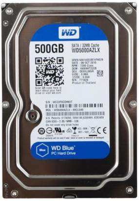 "HDD 3,5"" 500GB 7200rpm SATA3 32MB WD Blue (WD5000AZLX)"
