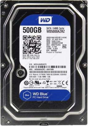 """HDD 3,5"""" 500GB 5400rpm SATA3 64MB WD Blue (WD5000AZRZ)"""