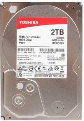 "HDD 3.5"" 2.0TB 7200rpm SATA3 64MB Toshiba P300 High Performance (HDWD120UZSVA) (HDKPC09AKA01)"