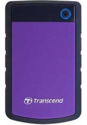 "HDD ext 2.5"" 1.0TB USB3.0 Transcend StoreJet 25H3, прорезиненный, чёрный/фиолетовый (TS1TSJ25H3P) военный стандарт MIL-STD-810F 516.5"