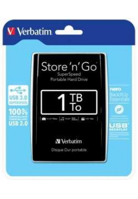 "HDD ext 2.5"" 1.0TB USB3.0 Verbatim Store 'n' Go, чёрный (53023)"