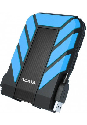 "HDD ext 2.5"" 2.0TB USB3.1 ADATA DashDrive Durable HD710 Pro, прорезиненный, черный/синий (AHD710P-2TU31-CBL) Waterproof/Dustproof/Shockproof, военный стандарт MIL-STD-810G 516.6"