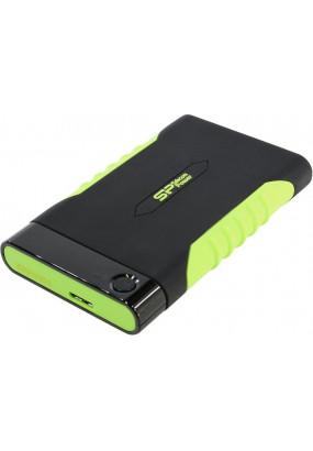 "HDD ext 2.5"" 2.0TB USB3.0 Silicon Power Armor A15, ударопрочный, чёрный/зеленый (SP020TBPHDA15S3K)"