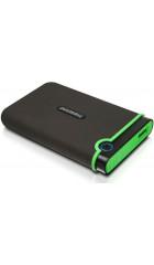 "HDD ext 2.5"" 1.0TB USB3.0 Transcend StoreJet 25M3S Slim, прорезиненный, стальной серый (TS1TSJ25M3S) военный стандарт MIL-STD-810F 516.5"