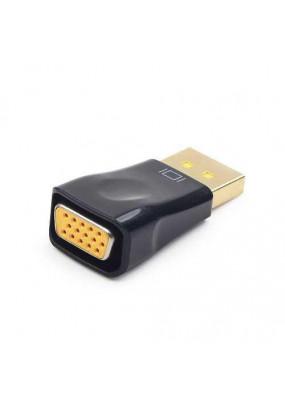 Конвертер DP-1.1a (папа) - D-SUB/VGA (мама), кабель 15 см, 1920x1200(1080)@60Hz, Oem, Cablexpert A-DPM-VGAF-02