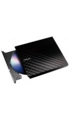 ODD ext DVD±RW ASUS Slim Drive SDRW-08D2S-U LITE Black, USB2.0, 20 mm, Retail (SDRW-08D2S-U LITE/DBLK/G/AS) (90-DQ0435-UA161KZ)