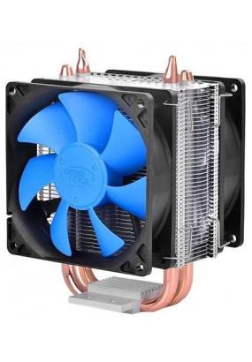 Охладитель Deepcool ICE BLADE 200M, S115x/2011/FM2+/AM2+/AM3+/AM4, TPD 125W, 2 теплотрубки, 4-pin PWM, fan Ф92x25mm, 900-2200rpm, 18-30.1dBA, 42.95 CFM, HDB (hydro dynamic bearing), 417 гр.