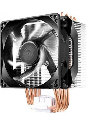 Охладитель CoolerMaster Hyper H411R (RR-H411-20PW-R1), All Sockets, 4 теплотрубки, TPD 95W, 4 pin PWM, fan Ф92x25mm, 600-2000rpm, 29,4dBA, 34.1 CFM, 662 гр.