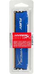 RAM 4GB DDR3-1600 PC3-12800 Kingston HyperX Fury Blue, CL10 (10-10-10), 1.5V, retail (HX316C10F/4)