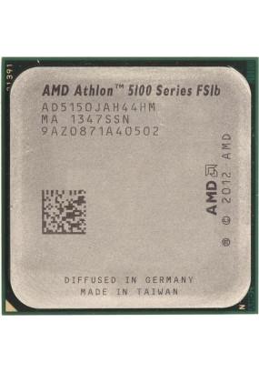 APU sAM1 AMD Athlon 5150 Tray (AD5150JAH44HM) (1.60GHz, Kabini, 4C/4T, Radeon R3 (128 cores, 600MHz), L2: 2MB, 28nm, 25W, DDR3-1600)