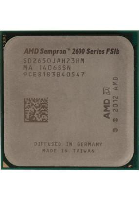 APU sAM1 AMD Sempron 2650 Tray (SD2650JAH23HM) (1.45GHz, Kabini, 2C/2T, Radeon HD 8240 (128 cores, 400MHz), L2: 1MB, 28nm, 25W, DDR3-1333)