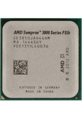 APU sAM1 AMD Sempron 3850 Tray (SD3850JAH44HM) (1.30GHz, Kabini, 4C/4T, Radeon HD 8280 (128 cores, 450MHz), L2: 2MB, 28nm, 25W, DDR3-1600)