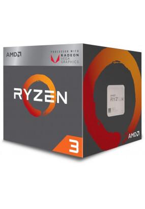 APU sAM4 AMD Ryzen 3 2200G BOX (YD2200C5FBBOX) (3.5-3.7GHz, Raven Ridge, 4C/4T, L2: 2MB, L3: 4MB, Radeon RX Vega 8 (512 Shader cores, 1100MHz), 14nm, 65W, DDR4-2667)