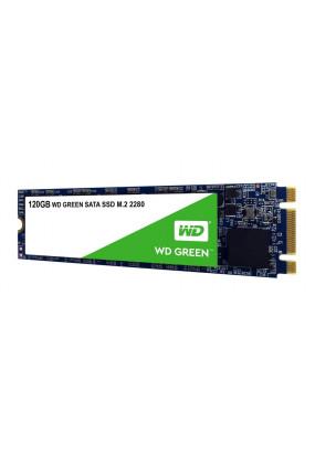 SSD M.2 120GB SATA3 WD Green, box (WDS120G2G0B) (2280, TLC, Silicon Motion SM2256, R/W: up to 540/430MB/s, 4KB write up to 63000 IOPS, 40 TBW, MTBF: 1.75 млн. часов)