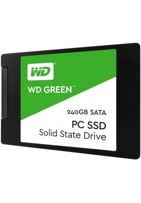 """SSD 2.5"""" 240GB SATA3 WD Green, box (WDS240G2G0A) (7 mm, TLC, Silicon Motion SM2256, R/W: up to 540/430MB/s, 4KB write up to 63000 IOPS, 40 TBW, MTBF: 1.75 млн. часов)"""