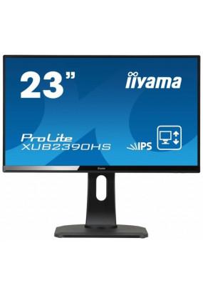 "LCD 23"" Iiyama XUB2390HS-B1, AH-IPS, 1920x1080, 250 кд/м2, 1000:1, 5 мс, 178°/178°, стереоколонки, DVI, HDMI, VGA"