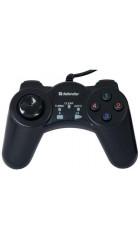 Геймпад Defender Game Master G2, ПК, USB 3.0, D-Pad - 8, 13 кнопок, Turbo,Clear,Auto / Windows XP,Vista ,7
