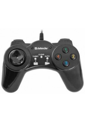 Геймпад Defender Vortex, USB, 13 кнопок, виброотдача, кабель: 1,8 м