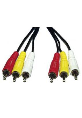 Кабель Audio Atcom 3RCA to 3RCA, 5.0m, 3 тюльпана-(M)> 3 тюльпана (M)