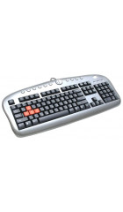 Клав. A4 KB-28-G-1 Black&Gray, Multimedia Gamer, USB