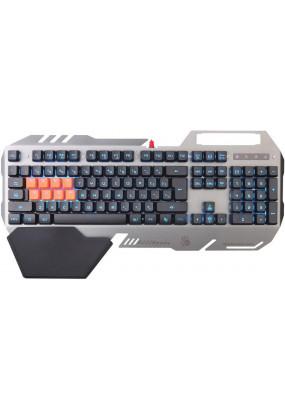 Клавиатура A4 Bloody B418 серый USB Multimedia Gamer LED (подставка для запястий)