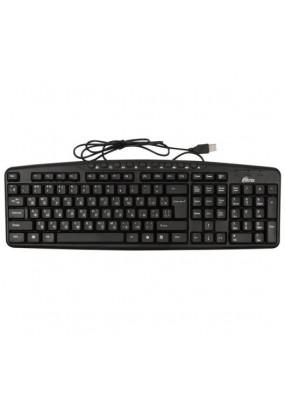 Клав. Ritmix RKB-141 Black, Multimedia, USB, Waterproof, 116кн., регулировка угла наклона, кабель: 1,3 м