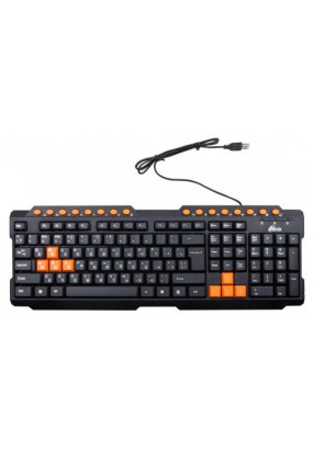 Клав. Ritmix RKB-151 Black, Multimedia, USB, 107+16кн., регулировка угла наклона, кабель: 1,3 м