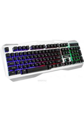 Клав. игровая Гарнизон GK-500G, металл, подсветка, USB, Black/Gray