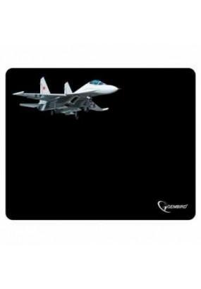 Коврик Gembird MP-GAME8 Black, рисунок: самолет, материал: ткань + вспененная резина, 250*200*3мм