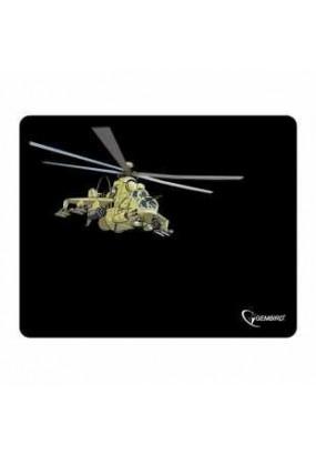Коврик Gembird MP-GAME9 Black, рисунок: вертолёт, материал: ткань + вспененная резина, 250*200*3мм