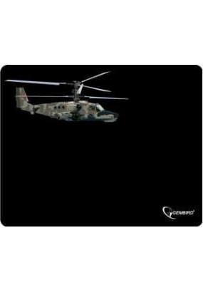 Коврик Gembird MP-GAME4 Black, рисунок: вертолёт-2, материал: ткань + вспененная резина, 250*200*3мм