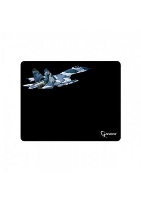 Коврик Gembird MP-GAME5 Black, рисунок: самолет-2, материал: ткань + вспененная резина, 250*200*3мм