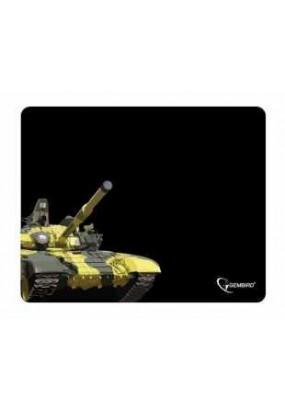 Коврик Gembird MP-GAME10 Black, рисунок: танк, материал: ткань + вспененная резина, 250*200*3мм