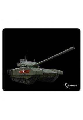 Коврик Gembird MP-GAME1 Black, рисунок: танк-2, материал: ткань + вспененная резина, 250*200*3мм