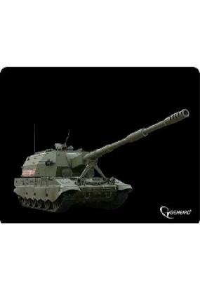 Коврик Gembird MP-GAME3 Black, рисунок: танк-3, материал: ткань + вспененная резина, 250*200*3мм