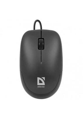 Mышь Defender Datum MM-010 Black, USB, 1000 dpi , оптическая, проводная, 2 кнопки + Scroll