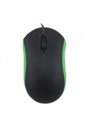 Мышь Ritmix ROM-111 Black&Green, 2 + колесо-кнопка, 800 dpi, USB, оптическая