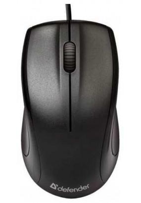 Мышь Defender Optimum MB-160 Black, USB, 2кн+1кл-кн, 1000 dpi, оптическая, проводная