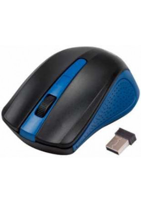 Мышь Ritmix RMW-555 Black&Blue, Wireless, 2 + колесо-кнопка, 1000 dpi, USB, оптическая