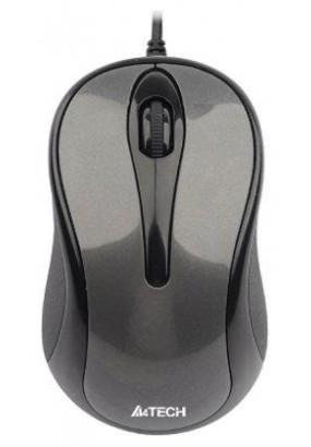 Мышь A4 V-Track Padless N-360-1 Gray, оптическая,1000dpi, 2кн, USB