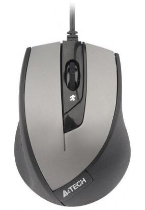 Мышь A4 V-Track Padless N-600X-2 Gray, оптическая,1600dpi, 3кн, USB