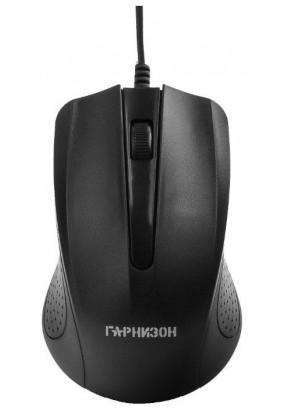 Мышь Гарнизон GM-105, Black, USB, 800 dpi, 2кн.+колесо-кнопка