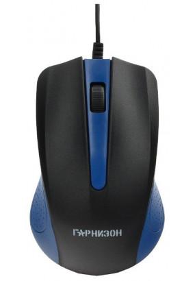 Мышь Гарнизон GM-105B, Blue, USB, 800 dpi, 2кн.+колесо-кнопка
