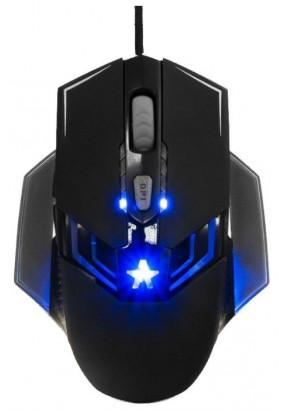 """Мышь игровая Гарнизон GM-750G, """"Альтаир 2"""", Black, USB, софт тач, 2400 dpi, 5кн.+колесо-кнопка"""