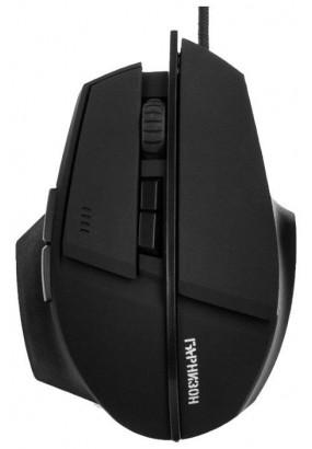 """Мышь игровая Гарнизон GM-740G, """"Альтаир"""", Black, USB, софт тач, 2400 dpi, 6 кн.+колесо-кнопка"""