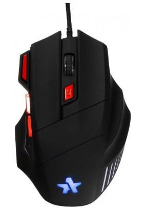 """Мышь игровая Гарнизон GM-720G, """"Хара"""", Black, USB, софт тач, 2400 dpi, 6 кн.+колесо-кнопка"""