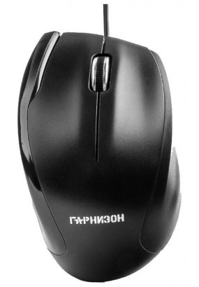 Мышь Гарнизон GM-205, Black, USB, 1000 dpi, 2кн.+колесо-кнопка